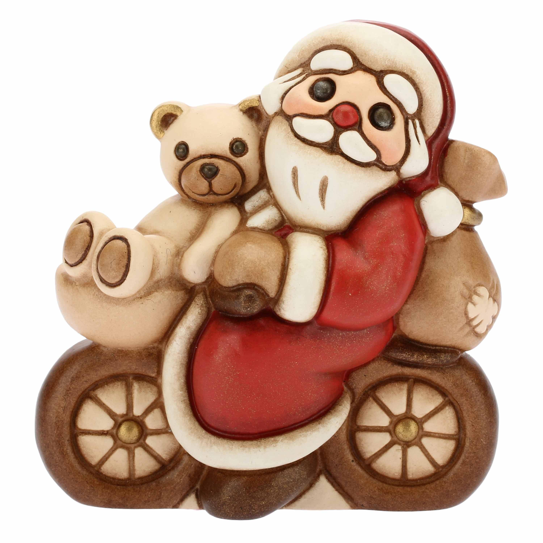 Babbo Natale In Bicicletta.Babbo Natale In Biciletta Piccolo Rosso Thun Shop