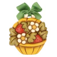 Decorative plaque – basket with flowers and strawberries
