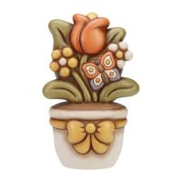 Flowerpot ornament with tulip
