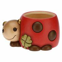 Home Sweet Home ladybird ceramic flowerpot holder