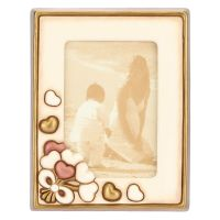 Medium photo frame with hearts 10x15 cm