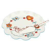 Plate with cake server Folk