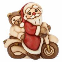 Santa Claus on motorcycle