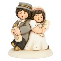 Medium cake topper toast newlyweds couple
