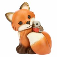 Fuchs Mit Rotkehlchen groß