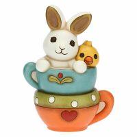 Mini rabbit and little chicken