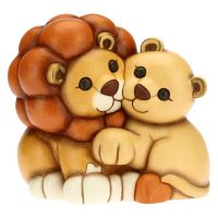 Lion and lioness couple, measurements