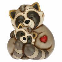 Pepito the Raccoon mum hugging cub