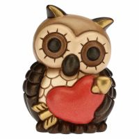 Small owl with heart