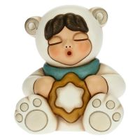 Baby polar bear with star