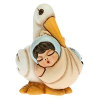 Birth stork with baby boy