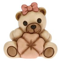 Teddy mit Glücksklee Rosa