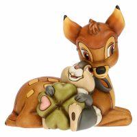 Bambi THUN Disney® e Tamburino con quadrifoglio portafortuna