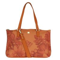 """Large """"Savana story"""" bag in faux leather"""