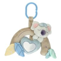 Crib rattle for baby boy with Koala soft toy