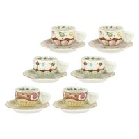 "Set 6 espresso cups ""New sweet cake"""