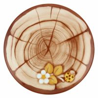 """Dessert plate trunk """"Bosco incantato"""""""