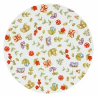 Big plate Country with flowers