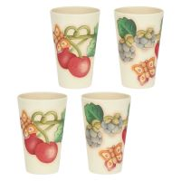 """Set of 4 """"Teddy goloso"""" beakers in bamboo paste"""