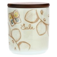 Elegance porcelain salt jar