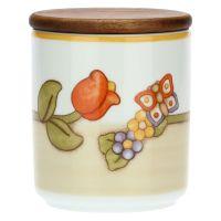 Vorratsbehälter aus Porzellan Country mit Tulpe und Schmetterling