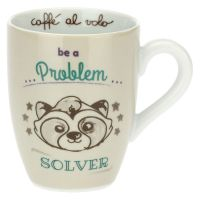 Mug with raccoon - Be a problem solver