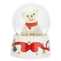 Palla di vetro con neve ed orso polare piccola