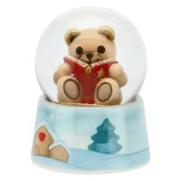 Small snowball Teddy with book