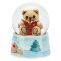 """Palla di vetro Teddy """"Preludio d'inverno"""" con libro piccola"""