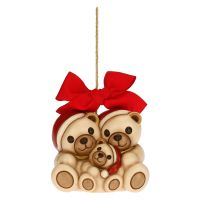 Teddy family Christmas tree decoration