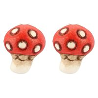 Earrings Current mushroom
