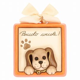 Decorative plaque – Cuddle risk with dog