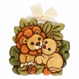 Formella coppia leoni grande