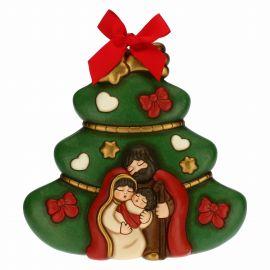 Formella albero di Natale con Sacra Famiglia