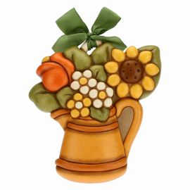 Decorative plaque - jug and flowers