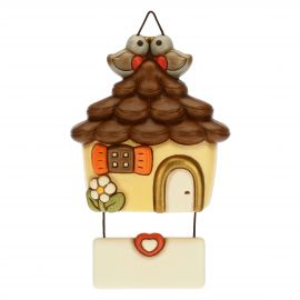 Decorative plaque - cottage with birds in love