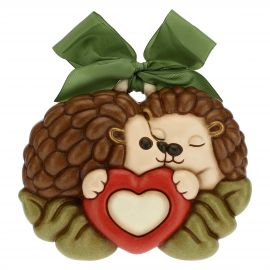 Decorative plaque - pair of hedgehogs in love