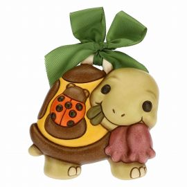 Decorative plaque – Vera turtle with lucky ladybird