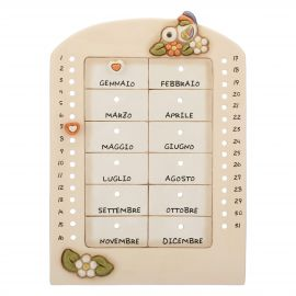 Perpetual wall calendar Country