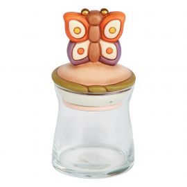 Small Country glass jar with butterfly