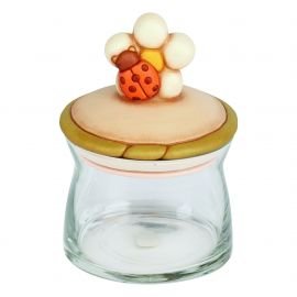 Medium Country glass jar with ladybird