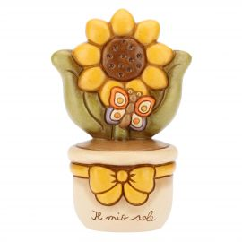 Flowerpot ornament with sunflower