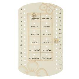 Calendario perpetuo da parete in ceramica Elegance