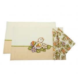 Set 2 table mats with 2 napkins Country