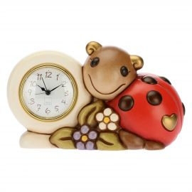 Table clock with lucky ladybird