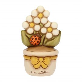 Flowerpot ornament with daisies