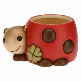 Home Sweet Home ladybird ceramic flowerpot holder