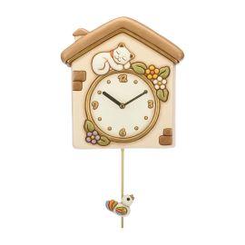 Pendulum Clock Cat And Bird