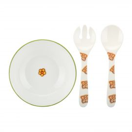 Pack salad bowl+spoon and fork Butterfly