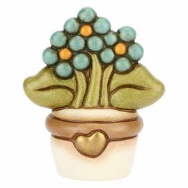 """Vasetto soprammobile piccolo con fiore """"Non ti scordar di me"""""""